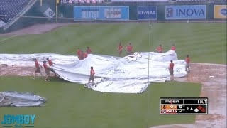 Nationals grounds crew can't get the tarp on the field, a breakdown