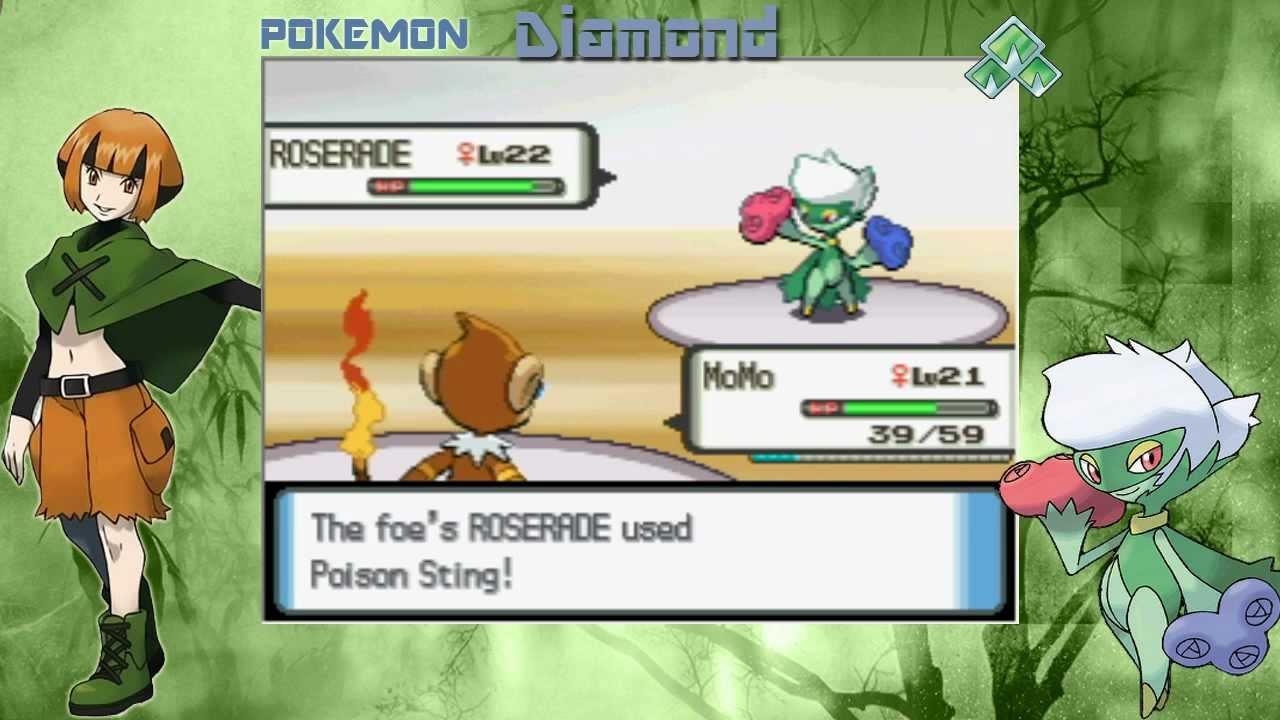 Pokemon Diamond Gym Battle 2 Gardenia