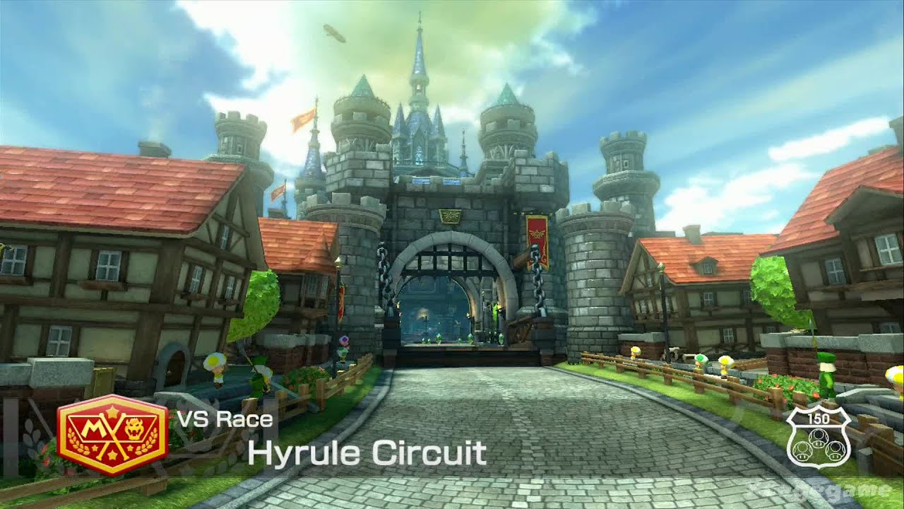 mario kart 8 dlc gameplay zelda hyrule circuit hd youtube. Black Bedroom Furniture Sets. Home Design Ideas