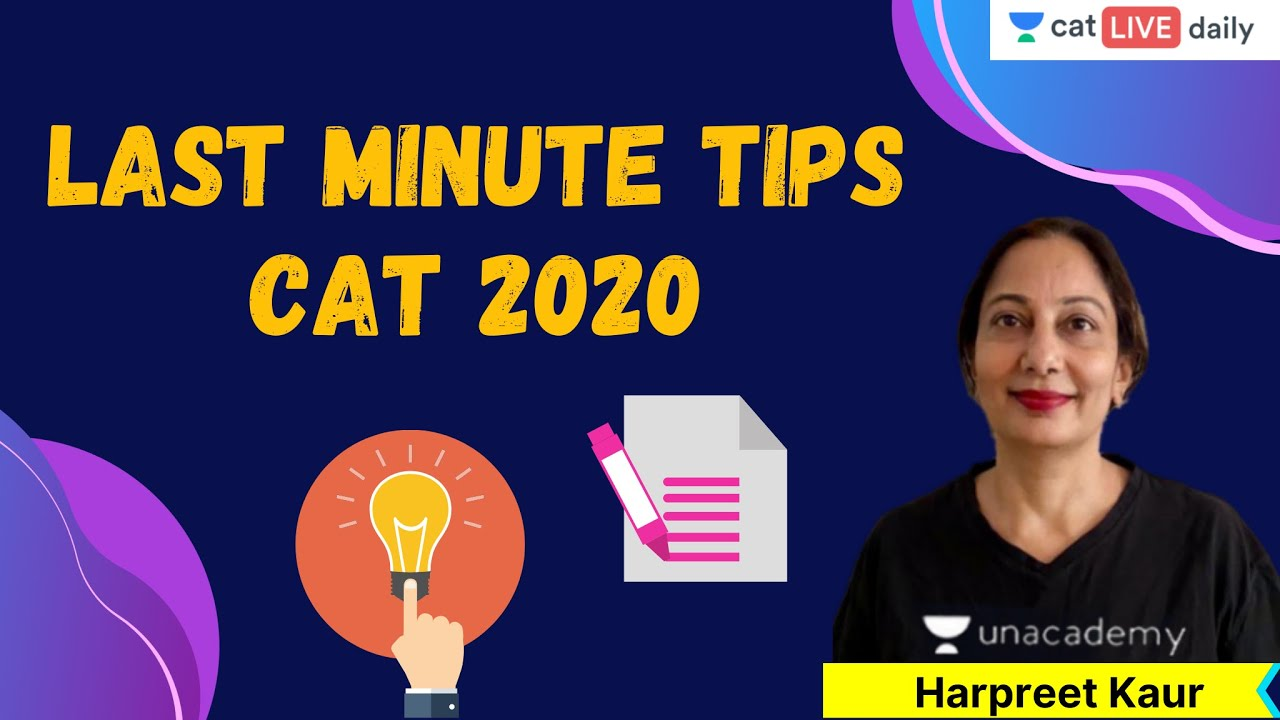 Last Minute Tips CAT 2020 | Unacademy CAT | Verbal Ability - CAT 2020 | By Harpreet Kaur