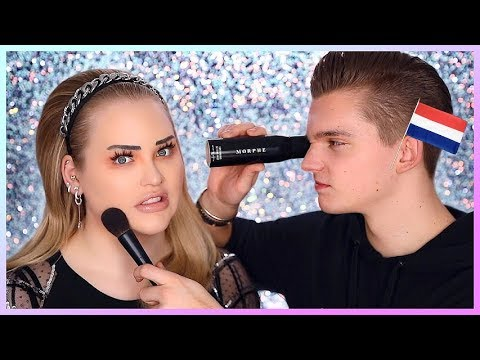 FIANCE DOES MY MAKEUP IN DUTCH!!! | NikkieTutorials