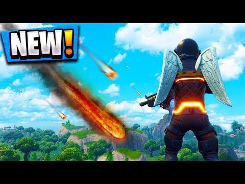 *NEW* METEOR HITTING MAP In Fortnite Battle Royale! (Season 4 Battle Pass)