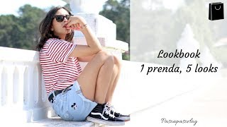 1 PRENDA, 5 LOOKS: CAMISETA A RAYAS | PASO A PASO