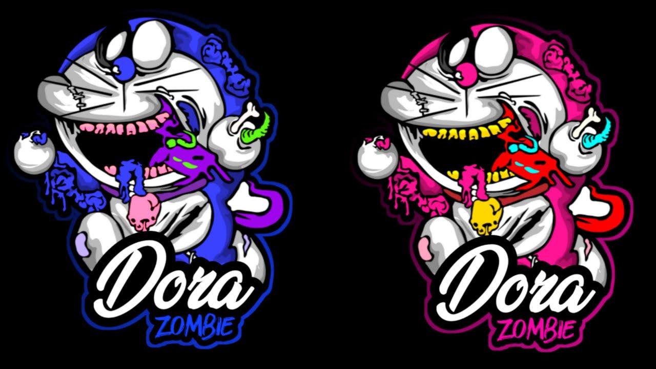 Mentahan Doraemon Zombie Mockup Fresh