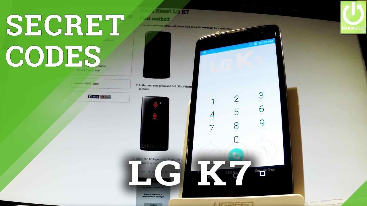 CODES in LG K7 - Enable Hidden Menu / Use Advanced Settings