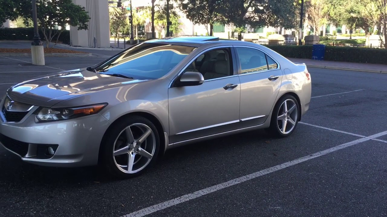 Acura TSX With KMC District Wheels YouTube - Acura tsx 18 inch rims