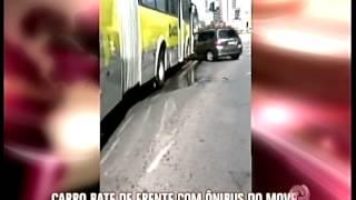 Acidente em viaduto no centro de Belo Horizonte