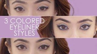 3 Bright Coloured Eyeliner Styles | Attractive Eyeliner Looks & Style | Be Beautiful