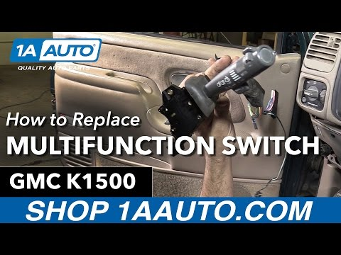 How to Replace Install Multifunction Switch 1995-99 GMC Sier