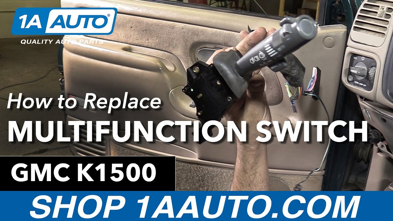How to Replace Multifunction Switch 9599 GMC K1500  YouTube