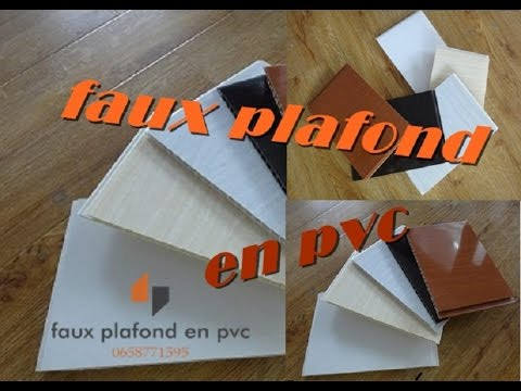 Construction et travaux decoration faux plafond en pvc for Faux plafond en pvc