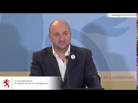 Luxembourg Press Conference on new Space Law on Space Resource Utilization
