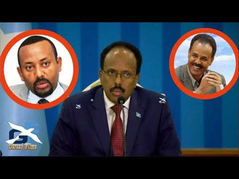 DEG DEG MD Farmaajo o Eritrea u duulay lana balansan Abiy axmad iyo Jabuuti o aad uga xanaqday
