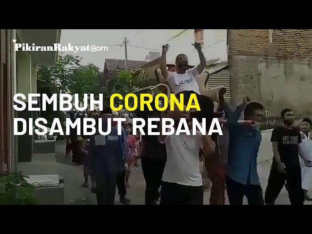 Cara Unik Warga Kabupaten Bandung Barat Sambut Pasien Sembuh Covid-19, Diarak dengan Bacaan Selawat