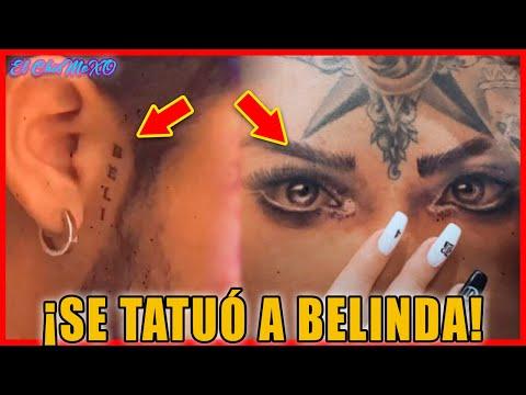 Así presumió Christian Nodal su tatuaje de Belinda ¡OMG!