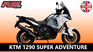 KTM 1290 Super Adventure Diablo Black Stainless Oval Midi Fuel Exhaust