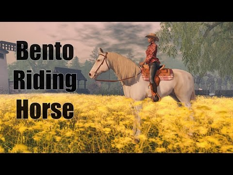 Bento Riding Horse in Second Life by Water Horse