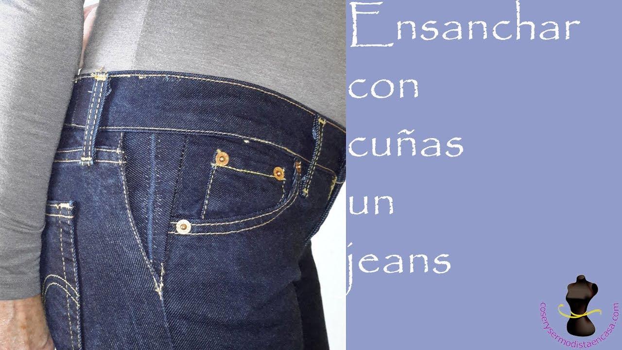 0310bd4e3 Ensanchar con cuñas un pantalón vaquero - YouTube