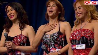 Miss Tres - Singing Trio's SHOCKING Audition Piece- Asia's Got Talent 2015