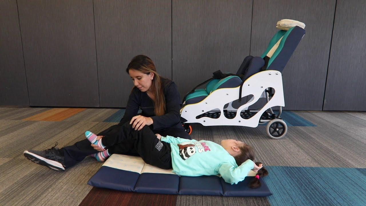 Ejercicios KitSmile - Posición supino - Rehabilitación niños con parálisis Cerebral