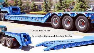 CHINA HEAVY LIFT     Detachable Gooseneck Lowboy Trailer