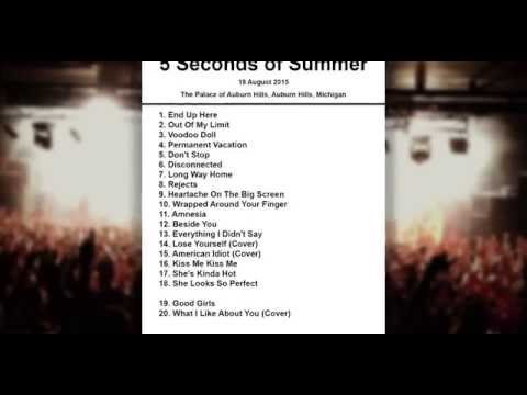 5 Seconds of Summer Setlist - The Palace of Auburn Hills - Auburn Hills - 19 August 2015