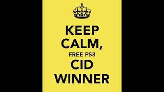 PS3 CID Winner (Winner Winner Chicken Dinner)