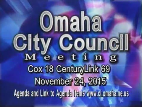 Omaha Nebraska City Council Meeting, November 24, 2015