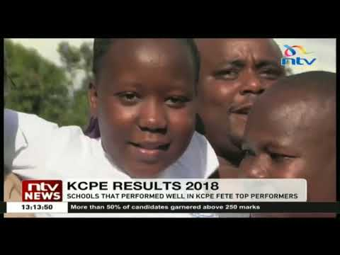 Schools that performed well in KCPE fete top performers