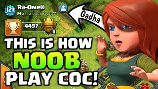 This Strange Player Is A Big Noob In Clash Of Clans! | Clash Of Clans ...