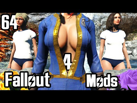 Fallout 4 Mod Review 64 - Sexy Vault Suit and Japanese Gym Outfits - Boobpocalypse