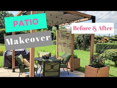 DIY Patio Makeover | Before and After with a Pergola