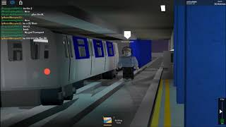 ROBLOX: Union Subway Rails - R155 NIS Transfer train at 65th st and Jackson Hts w/ bloopers and bts