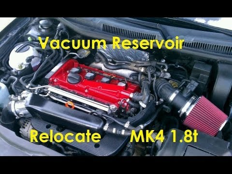 $10 Mods MK4 18t Vacuum Res Relocation - YouTube