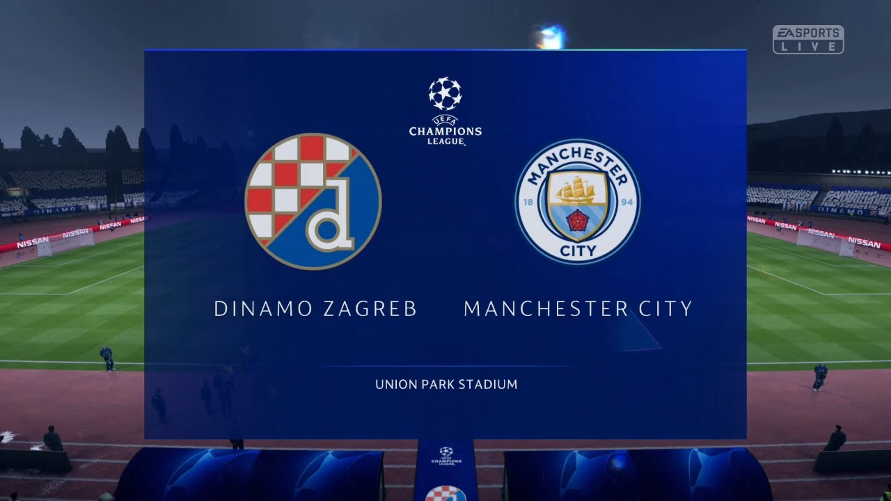 Fifa 19 Champions Leauge Group Stage Dinamo Zagreb Vs Manchester City Youtube