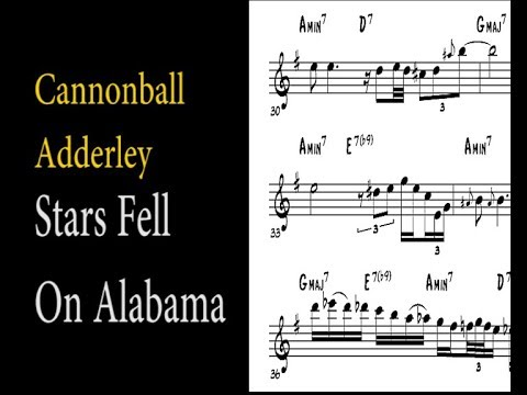 Cannonball Adderley - Stars Fell On Alabama (Ballad solo transcription)