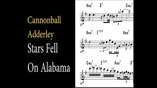 Cannonball Adderley - Stars Fell On Alabama (Ballad solo transcription)