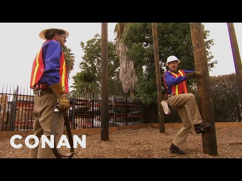 Conan The Cable Installer 11/25/10  - CONAN on TBS