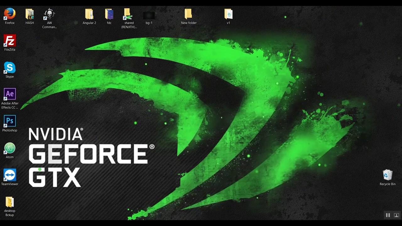 NVIDIA GEFORCE LIVE STEAM WALLPAPER ENGINE ON ALIENWARE - YouTube