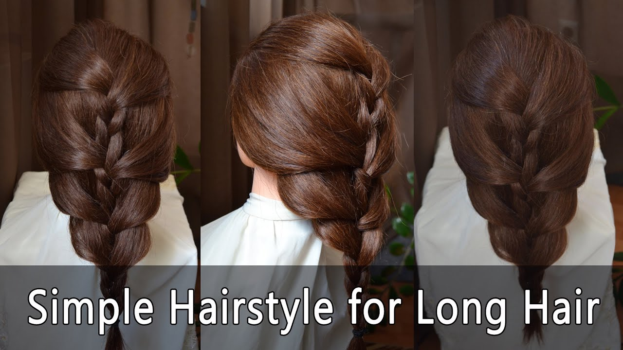 Easy hairstyles: Simple Hairstyle for Long Hair   Einfache Frisur für lange Haare