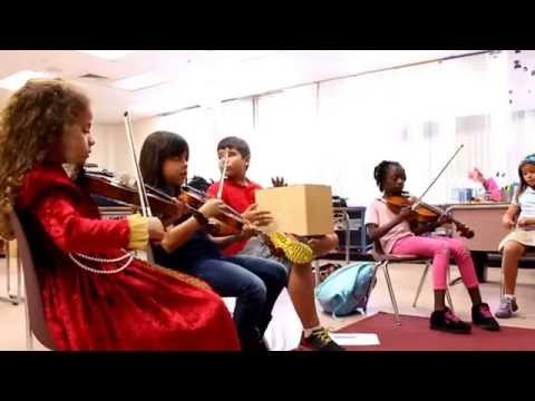 The Sounds of Music Violin Students at Hammock Pointe Elementary Practice with Mr. Daryll