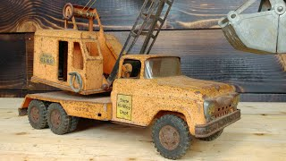 Tonka Mobile Crane Restoration antique vintage Restore