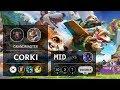 Corki Mid vs Ahri - KR Grandmaster Patch 9.13
