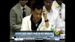 Davao City Mayor Rodrigo Duterte Complete ( Senate Hearing on Rice Smuggling )