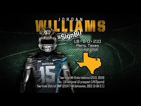Baylor Football: 2015 Signing Class - Jordan Williams