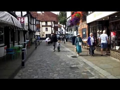 Google Glass: walk through Hitchin, Herts