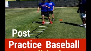 Post Practice Baseball Conditioning