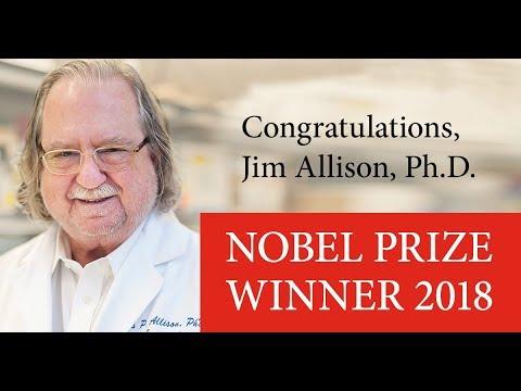 Jim Allison, Ph.D., Nobel Prize News Conference