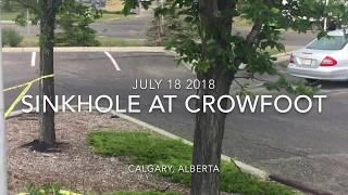 DEW Drone Footage of Calgary, Alberta Sinkhole/YYC/Udi-Wing Drone 7/20/2018