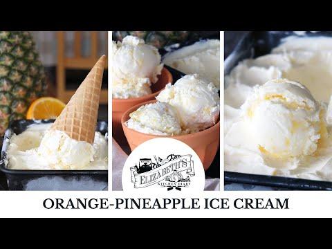 Easy no-churn orange-pineapple ice cream - just four ingredients!